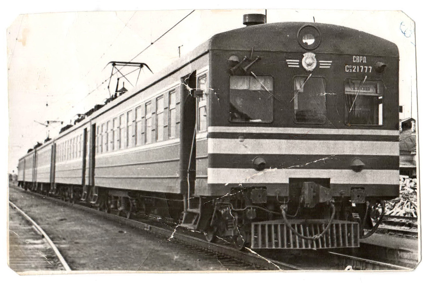 Старая электричка Ср3