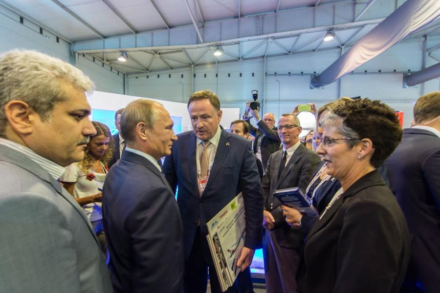 Путин на МАКС